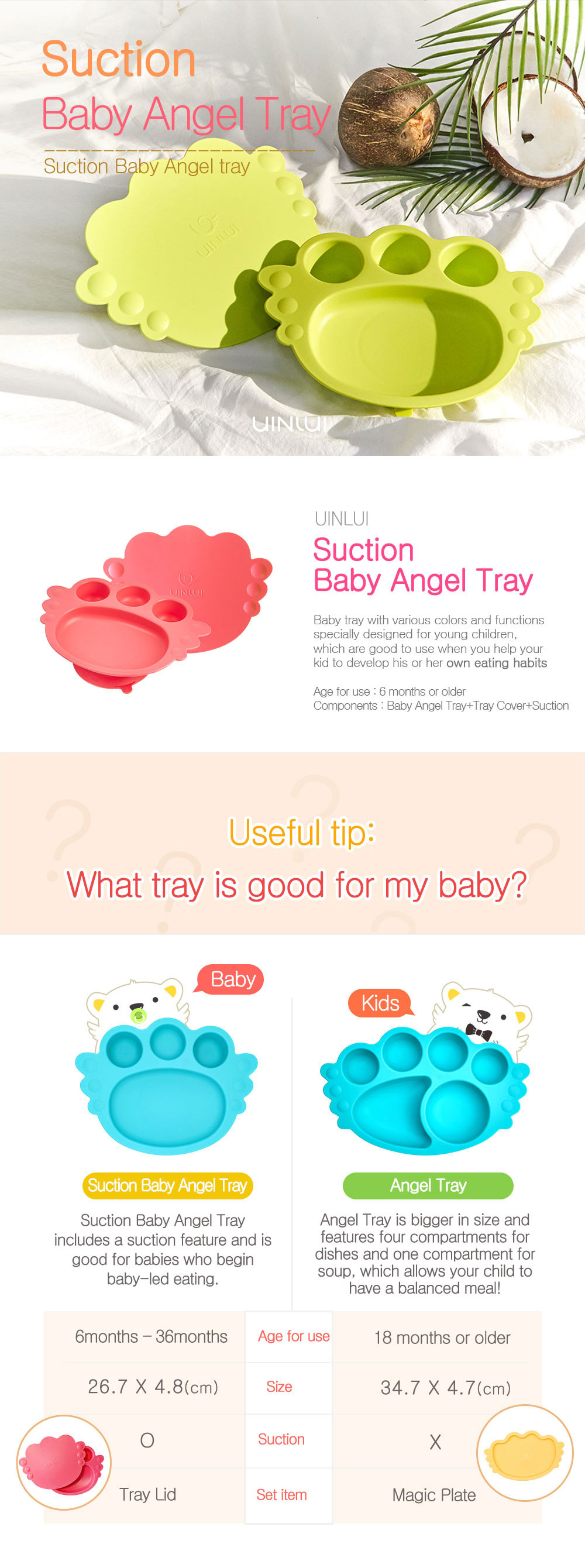 Suction Baby Angel Tray